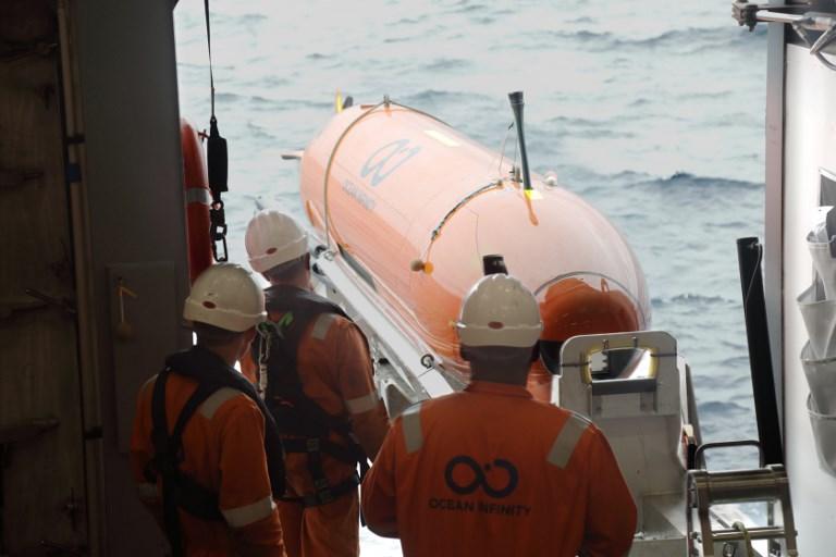 ยานสำรวจใต้ทะเลของบริษัท โอเชียน อินฟินิตี ซึ่งเป็น 1 ใน 8 ลำที่จะใช้ติดตามค้นหาซากเครื่องบิน MH370 ของมาเลเซียแอร์ไลน์ส