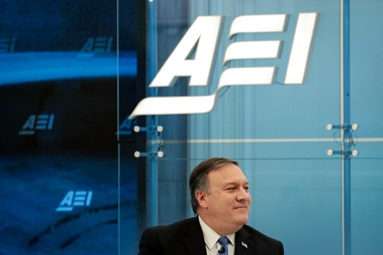 WASHINGTON, DC: Director of the Central Intelligence Agency (CIA) Mike Pompeo speaks in a discussion with author and columnist Marc Thiessen at the American Enterprise Institute, January 23, 2018 in Washington, DC. Pompeo stated that the CIA believes that Kim Jong Un is a rational actor but they have concerns about the information Kim may be receiving from those around him. Drew Angerer/Getty Images/AFP