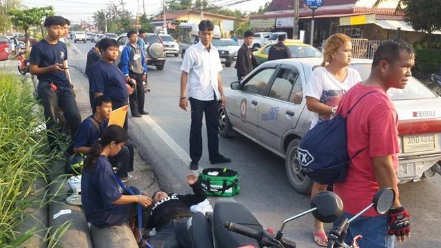 ชื่นชม! กลุ่มเด็กช่าง ช่วยเหลือคนประสบอุบัติเหตุ อยู่ส่งคนเจ็บไป รพ.