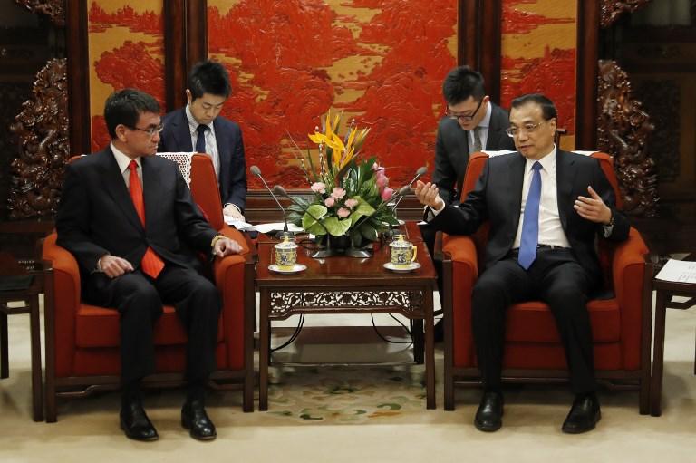 รมว.ญี่ปุ่นพบหารือผู้นำจีน แลกเปลี่ยนสัญญาสร้างเสริมมิตรภาพ