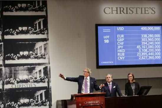 Leonardo boosts Christie's sales to record high