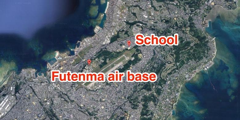 ที่ตั้งฐานทัพอากาศฟูเตนมะอยู่ใกล้ชุมชนและโรงเรียน ซึ่งทำให้ประชาชนในพื้นที่กังวลเรื่องความปลอดภัย