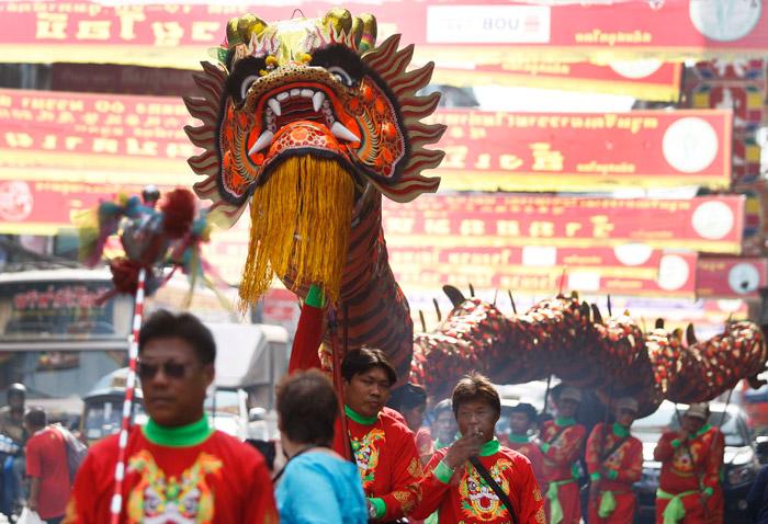 ขบวนแห่มังกร-สิงโต สิ่งที่ขาดไม่ได้ในเทศกาลตรุษจีน