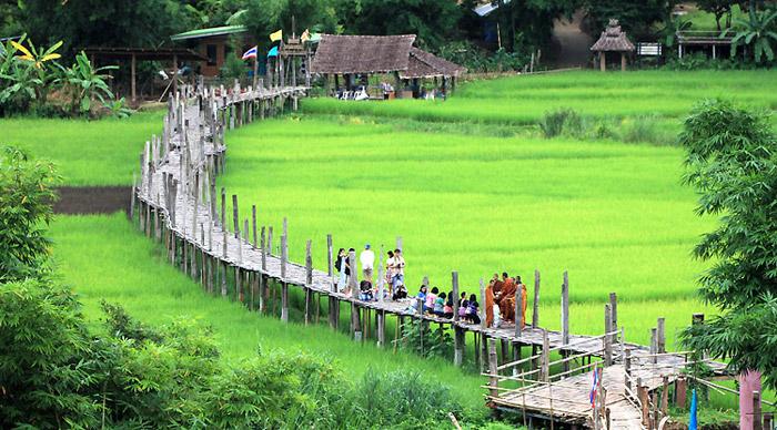 สะพานซูตองเป้ สถานที่ท่องเที่ยวชื่อดังของแม่ฮ่องสอน