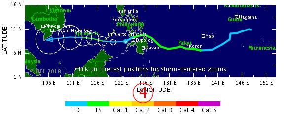 <br><FONT color=#00003>แผนภูมิโดย TSR ในกรุงลอนดอน แสดงให้เห็นดีเปรสชั่น ทวีกำลังขึ้นเป็นพายุโซนร้อนอีกครั้งหนึ่ง ก่อนอ่อนแรงลง และ มีปลายทางสุดท้ายที่ทะเลอ่าวไทย สำนักนี้อัปเดทรายงานทุก 24 ชั่วโมง.</b>