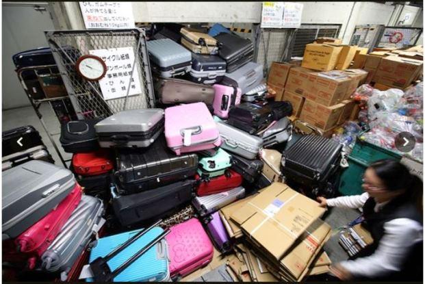 สนามบินญี่ปุ่นมึน นักท่องเที่ยวทิ้งกระเป๋าเดินทางเป็นภูเขาเลากา