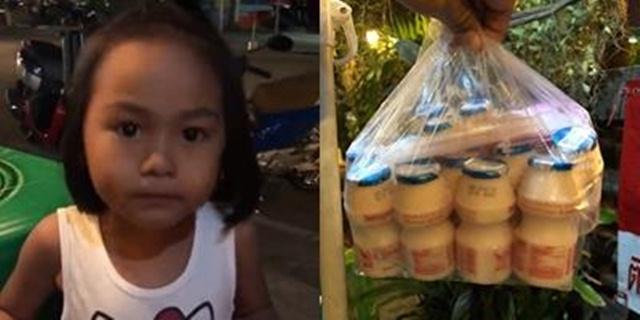 เอ็นดู! หนูน้อยสุดขยันขายนมเปรี้ยวคล่องแคล่ว สคริปต์เป๊ะมาก (ชมคลิป)