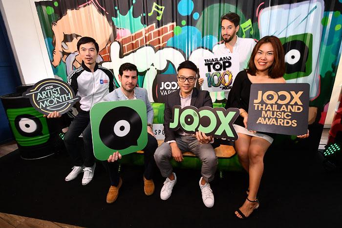 JOOX ยิ้มยอดฟังเพลงสตรีมมิ่งไทยปี 60 ทะลุ 2 พันล้านครั้ง