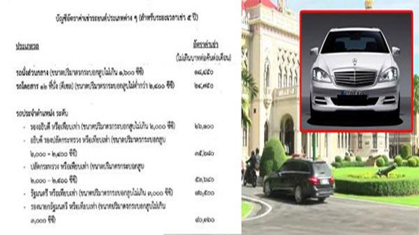 """3 ปี 400 ล้านรัฐบาลเช่ารถประจำตำแหน่ง เฉพาะ""""สำนักนายกฯ""""เช่า 60 เดือน 65 ล้าน"""