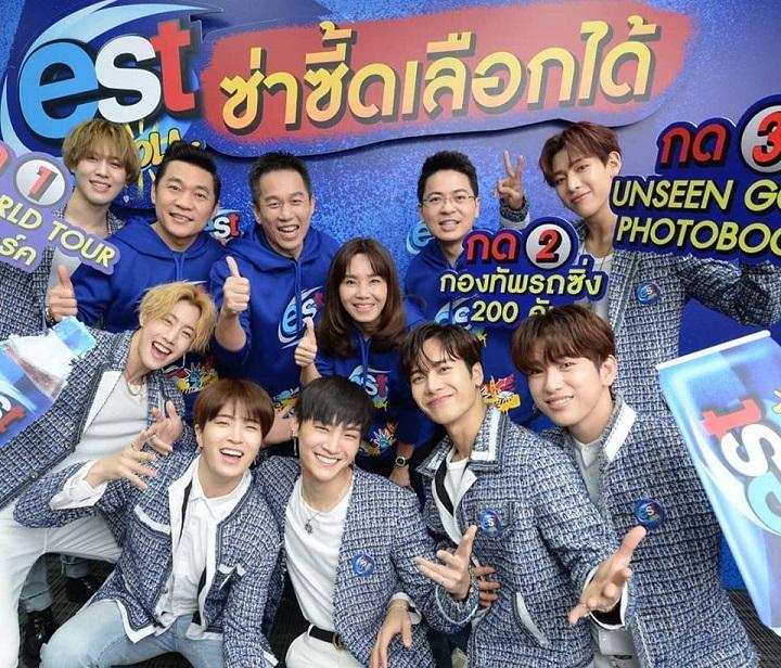 ผู้บริหารในเครือไทยดริ้งค์และสมาชิกวงGOT7