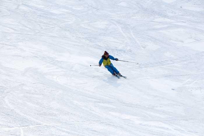 ภูเขาซาโอะเป็นอีกหนึ่งสถานที่เล่นสกี