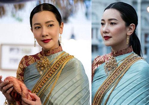 """งดงามดุจนางในวรรณคดี! """"นุ่น วรนุช"""" กับชุดไทยในงานอุ่นไอรัก"""