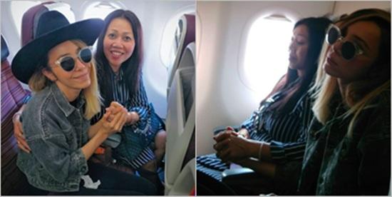 """โรคกลัวเครื่องบินกำเริบ!! """"ปาล์มมี่"""" โพสต์ขอบคุณเพื่อนผู้โดยสารให้จับมือตลอดทาง"""