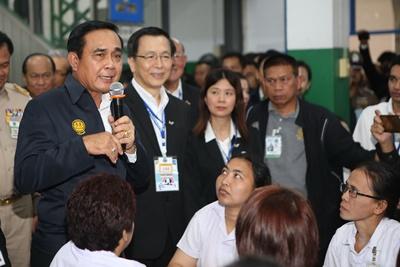 พูดคุยกับพนักงานไทยยูเนี่ยน