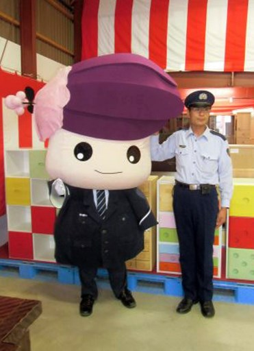 (FILES) This file handout photo from Asahikawa Prison taken on September 3, 2013 shows a person dressed up as Katakkuri-chan, the mascot of Asahikawa Prison, in Asahikawa, some 900 kilometres (560 miles) north of Tokyo. Representing everything from prisons to safe sex, Japan has literally thousands of mascots, ranging from the uber-cute to the frankly disturbing. Handout/Asahikawa Prison/AFP