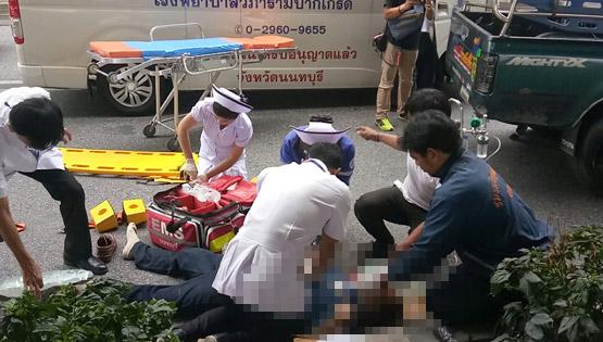 สลดลุงมาเยี่ยมเมียป่วยในโรงพยาบาล ขากลับเดินข้ามถนนถูกรถเก๋งชนดับ