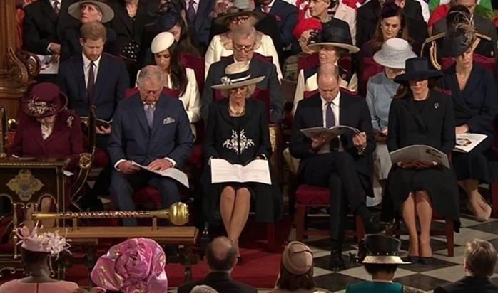 """In Pics : สุดฮือฮา! เป็นครั้งแรก """"เมแกน มาร์เคิล"""" ปรากฎตัวร่วมพระราชพิธีพร้อมควีนเอลิซาเบธที่ 2 ฉลองวันชาติเครือจักรภพอังกฤษ"""