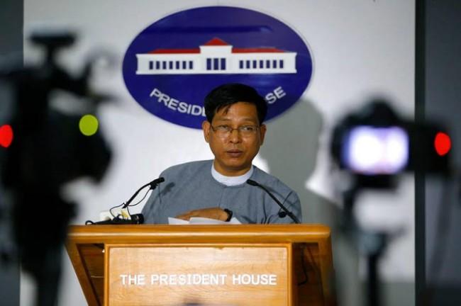ซอ เต โฆษกรัฐบาลพม่า. -- ภาพ : Mizzima/Min Min.