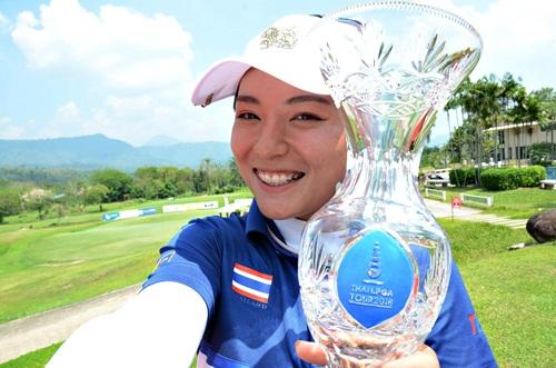 """""""มนัสชยา"""" คว้าแชมป์เหนือโปรเปิดฤดูกาลไทยแอลพีจีเอ"""
