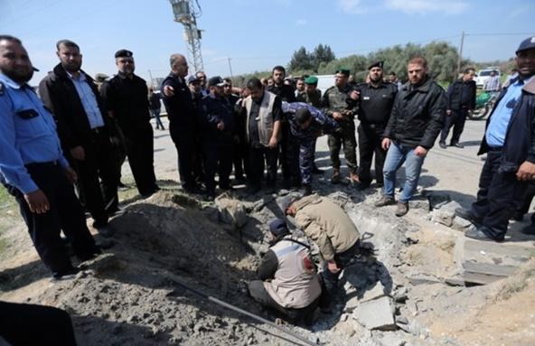 เครื่องบินอิสราเอลบุกโจมตีฉนวนกาซาหลังเกิดระเบิด