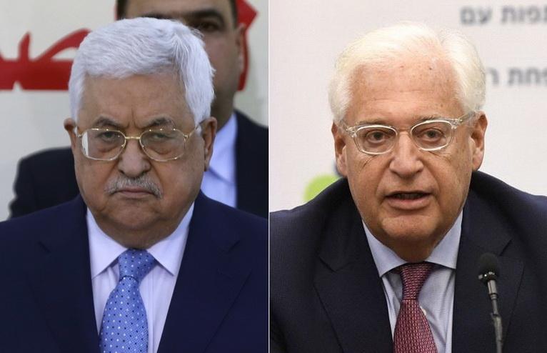 """ระอุหนัก! ผู้นำปาเลสไตน์ของขึ้น ด่าทูตสหรัฐฯ ประจำอิสราเอล """"ลูกหมา"""""""