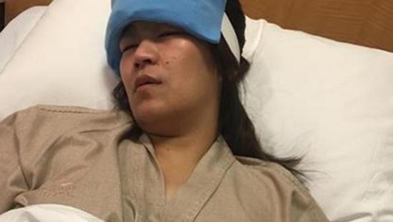 """เผยอาการล่าสุด """"จูน"""" เมีย """"เปิ้ล นาคร"""" นอนให้เลือด หลังตัวเกร็ง ชักกระตุกไม่ทราบสาเหตุ"""