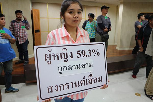 """ผู้หญิง 59% ถูกลวนลามช่วง """"สงกรานต์"""" เกินครึ่งไม่กล้าแจ้งความ จี้ กทม.จัดเล่นน้ำปลอดภัย"""