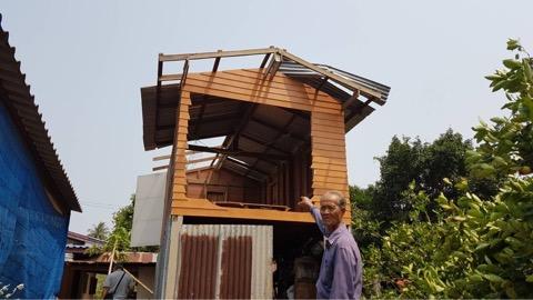พายุกระหน่ำชัยนาท พัดบ้านพังกว่า 60 หลัง