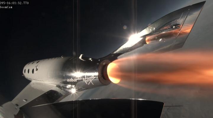 """ภาพจากฟากฟ้า """"เวอร์จิน"""" ทดสอบสำเร็จยานขนส่งลำใหม่ แผนขายตั๋วทัวร์อวกาศใกล้เป็นจริงแล้ว! (ชมคลิป)"""
