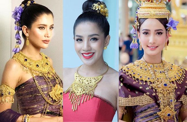 งดงามดุจย้อนยุคไปอยุธยา! เมื่อเหล่าคนบันเทิงแห่สวมชุดไทยอวยพรวันสงกรานต์