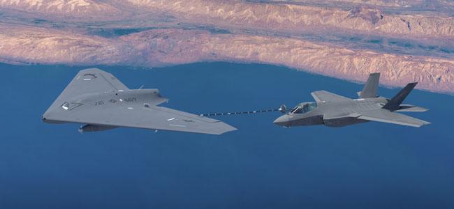 """เผยโฉม MQ-25 ต้นแบบ """"โดรนสารพัดประโยชน์"""" ว่าที่อาวุธใหม่ทัพสหรัฐฯ [ชมคลิป]"""