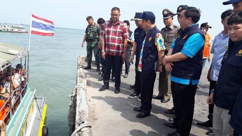 ผวจ.ชลบุรี ตรวจท่าเรือ ศรีราชา-เกาะสีชัง รับการเดินทางกลับของนักท่องเที่ยว
