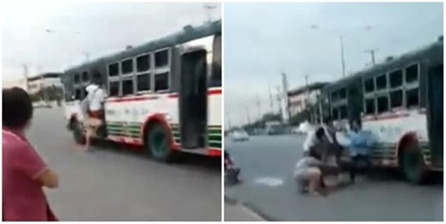 คนบ้านแพ้วโวย! รับไม่ได้หลังมีกลุ่มไอ้โม่งเข้าทำร้ายคนขับรถเมล์สายเก่าแก่