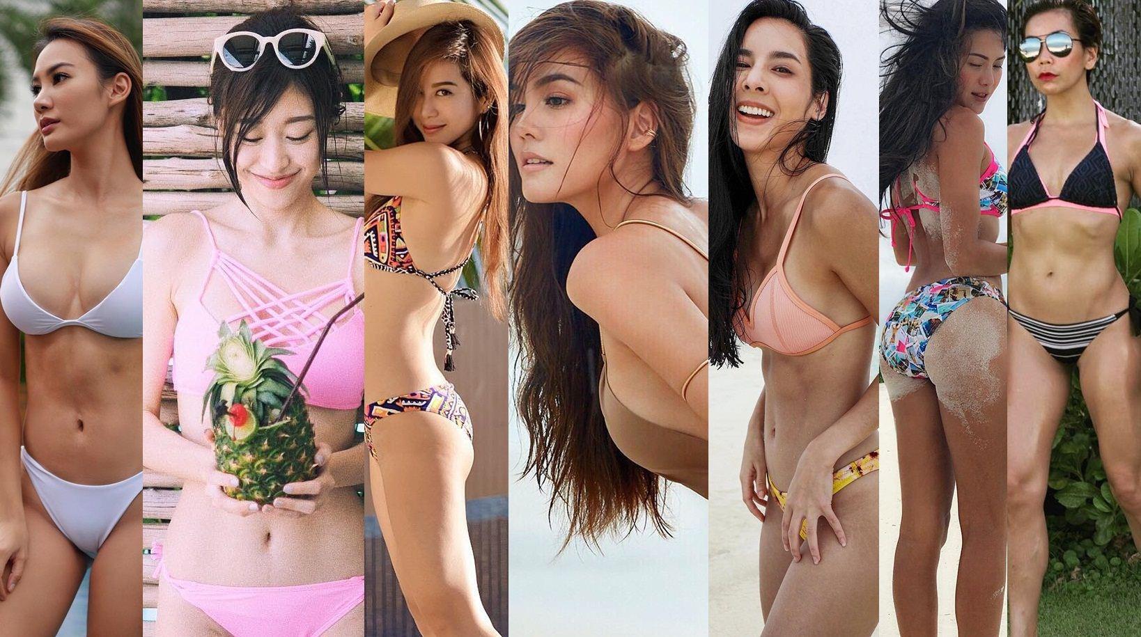 รวม 7 สาวชอบออกกำลังกายในชุดว่ายน้ำ  หุ่นดีได้ ไม่ต้องพึ่งยาลดความอ้วน