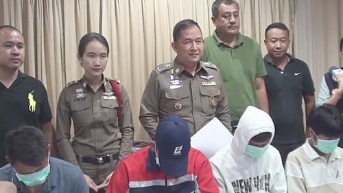 ผบก.ภ.จว.ชลบุรี  แถลงจับกุมผู้ต้องหาคดีอาชญากรรมช่วงเทศกาลสงกรานต์