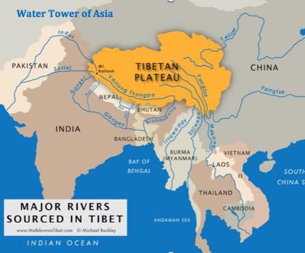 หิมาลัยและทิเบต : แหล่งน้ำของเอเชียใต้ เอเชียตะวันออกเฉียงใต้ และ เอเชียตะวันออก
