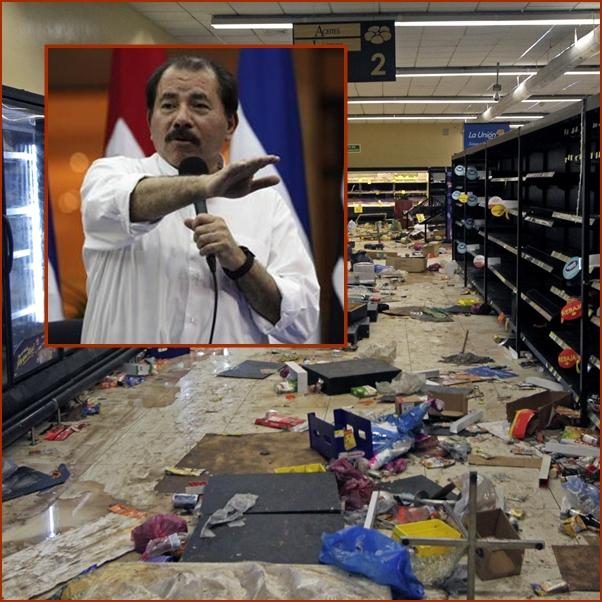 """In Clips:เผด็จการนิการากัว """"แดเนียล ออร์เตกา""""  ยอมยกเลิกเก็บภาษี-รีดเงินสมทบประกันสังคมเพิ่ม"""" หลังตายไปแล้วกว่า 26 แถมมีปล้นสะดมร้านค้า"""