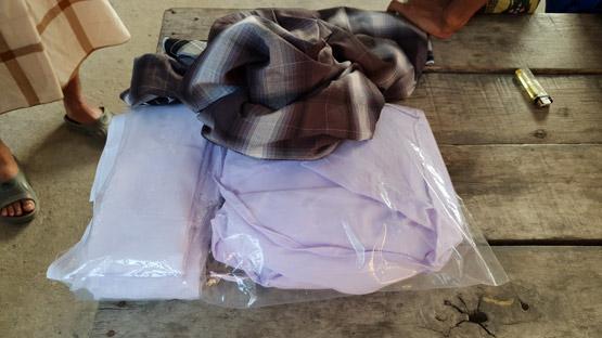 ตำรวจคลองหลวงรวบหนุ่มพม่า ย่องลักผ้าขาวห่อศพและโสร่งในมัสยิด