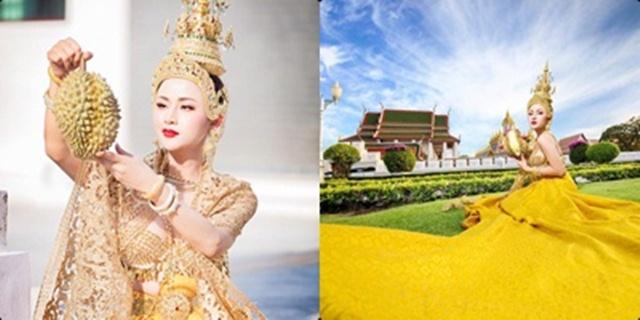 """สาวประเภทสองถ่ายภาพชุด """"มหาเทวีแห่งราชินีผลไม้ไทย"""" ชี้แบบนี้คือศิลปะ"""
