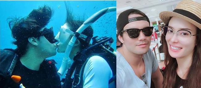 """""""ซูซี่ สุษิรา"""" หวานไม่เกรงใจปลา ดำน้ำสวีตคู่หมั้นจูบปากกันใต้ทะเล"""