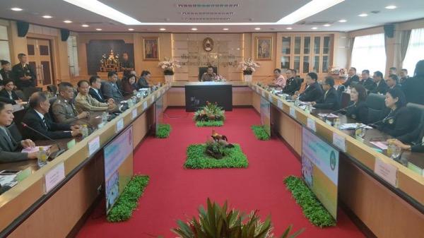 องคมนตรีตรวจเยี่ยมการดำเนินงานด้านการศึกษา มรภ.กาญจนบุรี