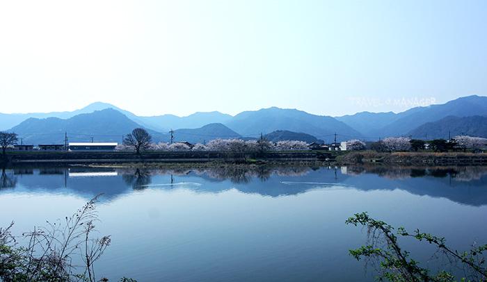วิวแม่น้ำฟุชิโนกาวะ ในระหว่างทางปั่นจากเมืองยามากุจิสู่เมืองอุเบะ
