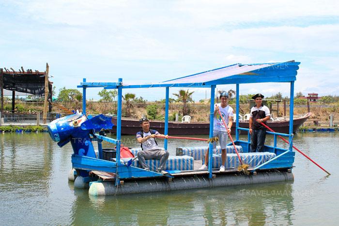 กิจกรรมเก็บสาหร่ายที่ Xianghe Recreation Fish Farm