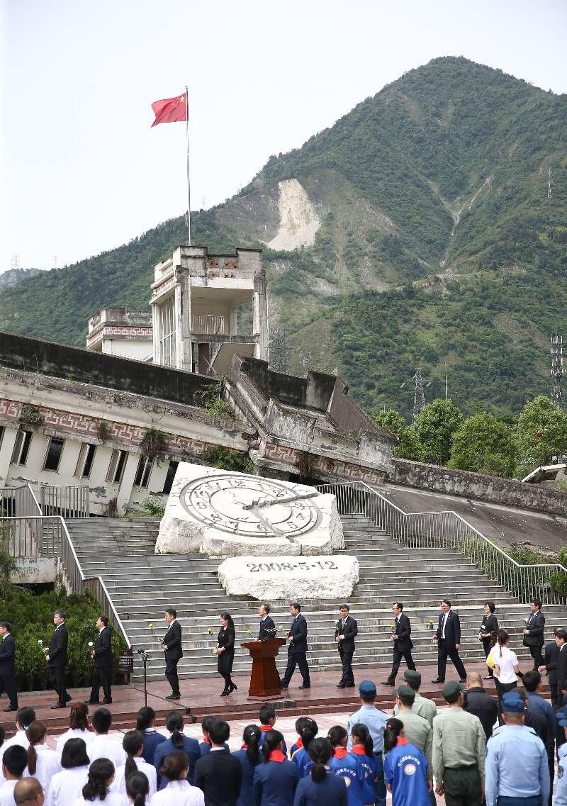 พิธีระลึกถึงผู้เสียชีวิต 10 ปี แผ่นดินไหวเสฉวน
