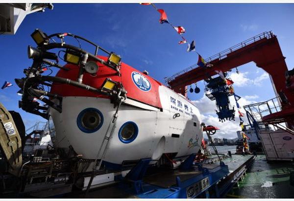 """ยานสำรวจใต้ท้องสมุทร """"เซินไห่ หย่งซื่อ"""" ได้ผ่านการทดสอบการปฏิบัติงานในปีที่ผ่านมา (แฟ้มภาพซินหวา)"""