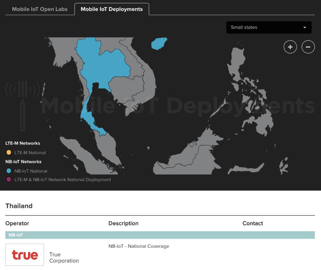GSMA ยก True NB-IoT เป็นรายเดียวที่ครอบคลุมทั่วประเทศ