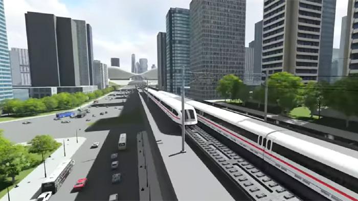 ภาพจำลองรถไฟความเร็วสูงเชื่อม 3 สนามบิน