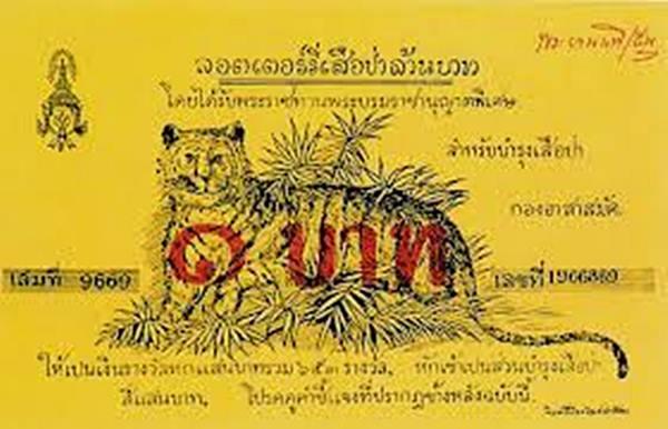 โฉมหน้าสลากเสือป่าเงินล้านอันอื้อฉาว