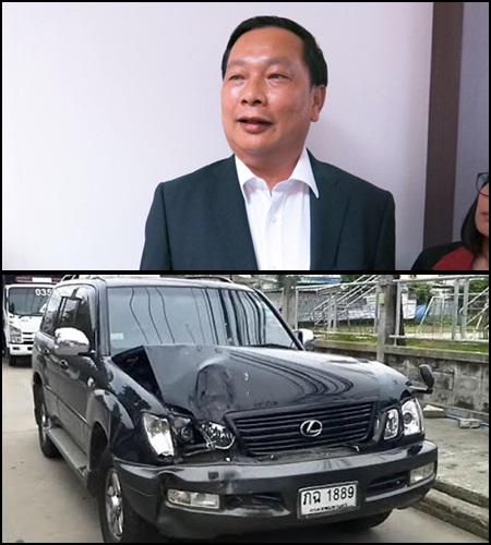 พ.ต.ท.บรรยิน ตั้งภากรณ์ อดีต ส.ส.นครสวรรค์ พรรคไทยรักไทย ผู้ต้องหาคดีฆ่านายชูวงษ์ แซ่ตั๊ง และรถคันที่นำมาจัดฉากว่าเป็นอุบัติเหตุชนต้นไม้ ทำให้นายชูวงษ์เสียชีวิต