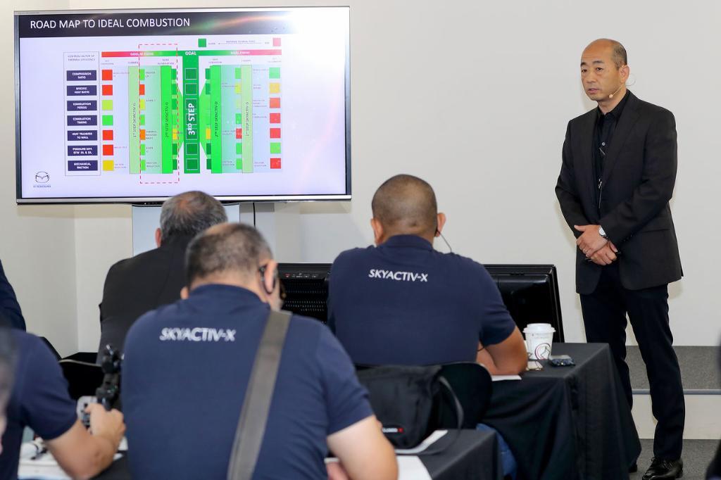Hiroshi tokushige  อธิบาย เกี่ยวกับเครื่องยนต์ SKYACTIV-X